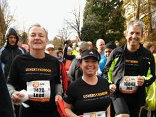 Steeds meer deelnemers en geld voor Run4Usher-team