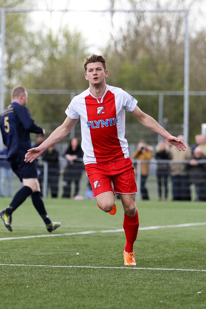 Aran Nijboer bezorgde Staphorst een enorme kater met de 1-1 namens Flevo Boys.