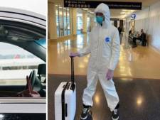 Combinaison, gants: Naomi Campbell sort les grands moyens contre le coronavirus