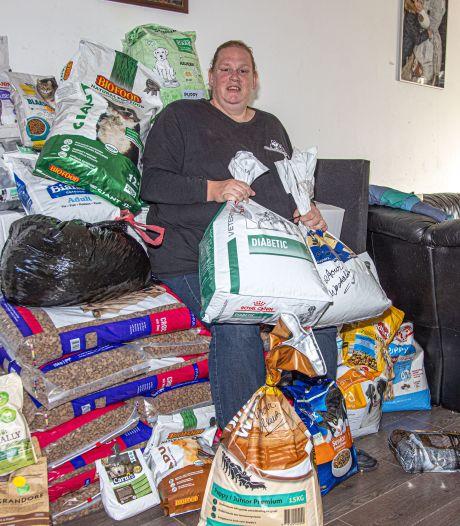 Eindelijk dat diervoer uit Miriams woonkamer, Dierenvoedselbank Zwolle vindt opslagruimte