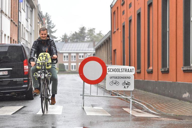 De Nachtegaalstraat wordt een schoolstraat én fietsstraat. De zwakke weggebruikers hebben er alle voorrang.