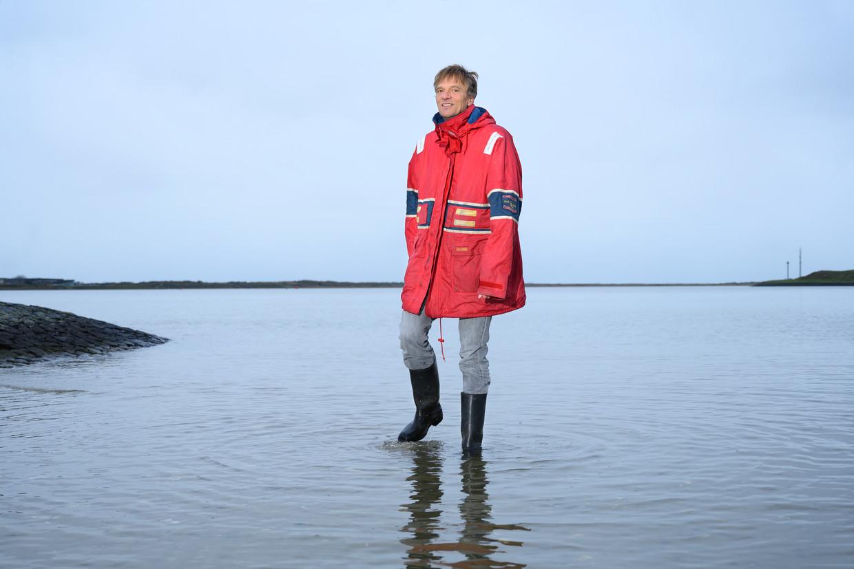 Oceanograaf Hans van Haren op Texel. Beeld Els Zweerink
