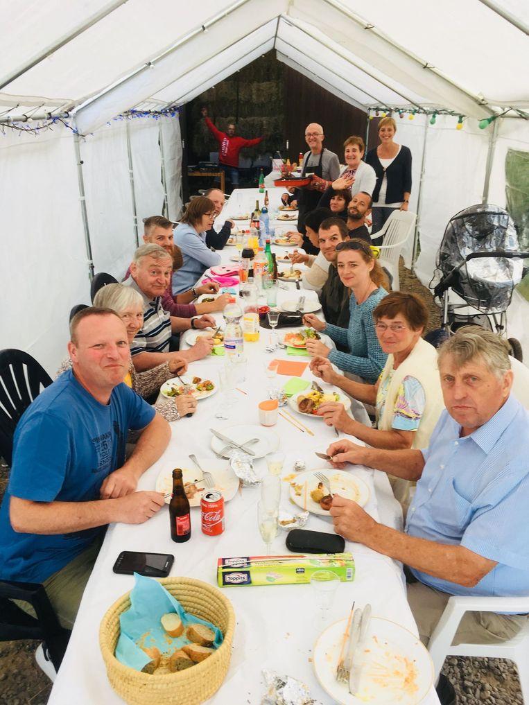 Buurtfeest in Kromgrachtstraat Erpe.