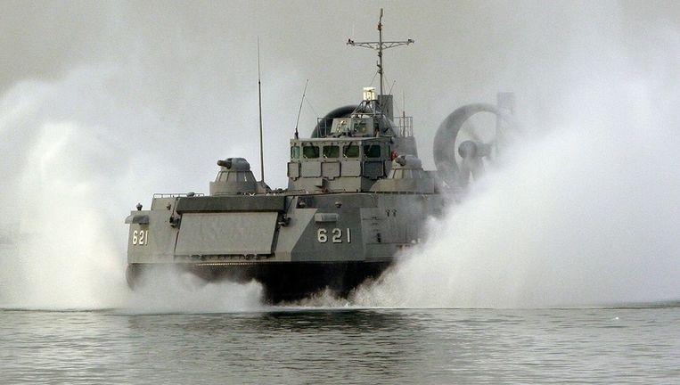 Een Zuid-Koreans schip. Foto EPA Beeld