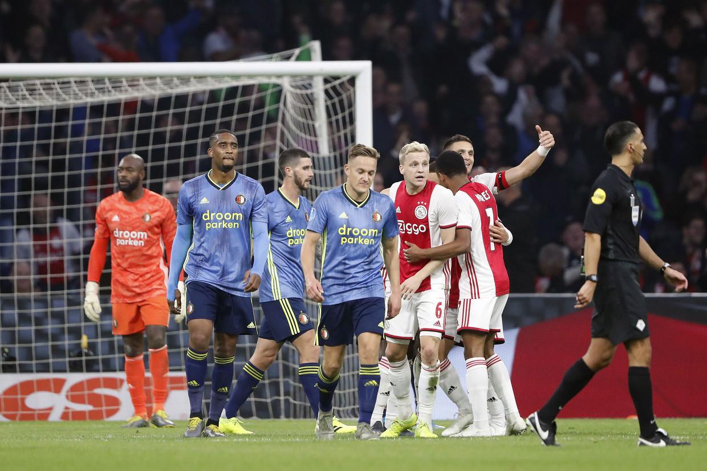 Zondag 17 januari neemt Ajax het in Amsterdam tegen Feyenoord op.  Beeld ANP Sport