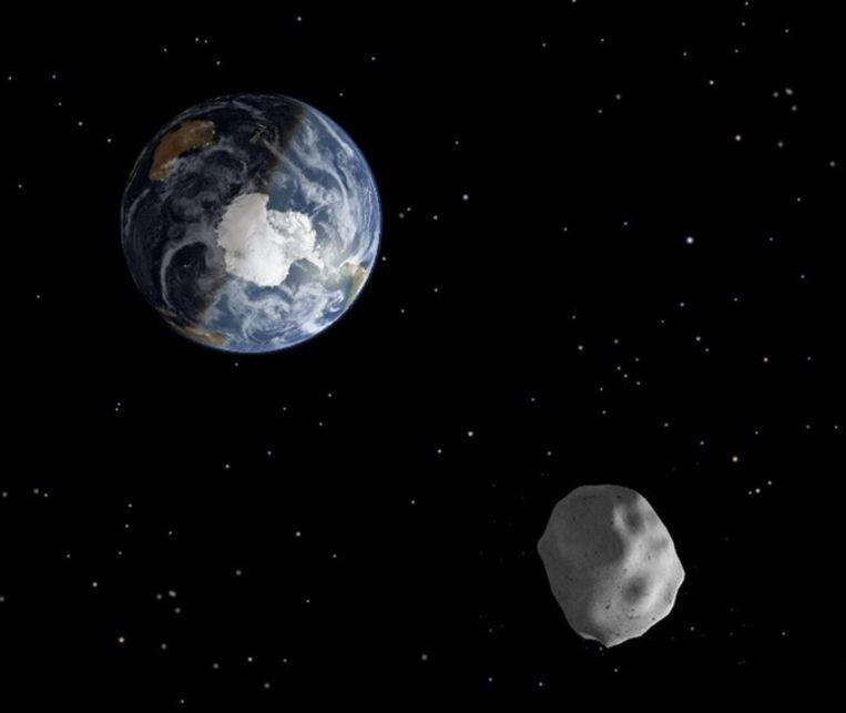 Computersimulatie van de astroïde. Beeld ANP