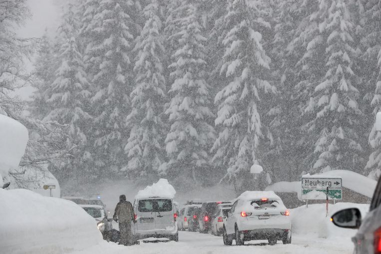 Oostenrijk kreeg in januari 2019 te kampen met massale sneeuwval.