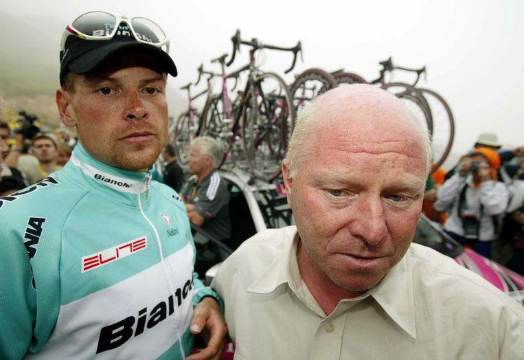 Juli 2003: Pevenage met zijn poulain Jan Ullrich.