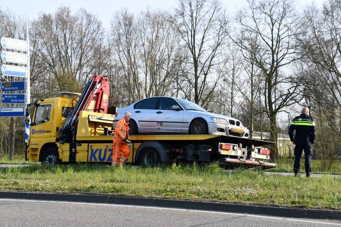 Eén auto moest worden weggesleept.