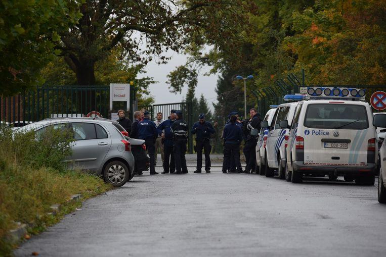 Het betrokken opvangcentrum van Fedasil in Florennes. (Archieffoto)