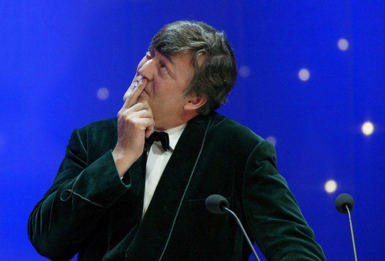 De Britse presentator en komiek Stephen Fry. Beeld epa