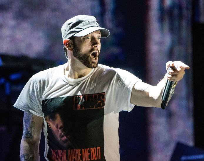 Eminem tijdens een recent optreden in de VS.