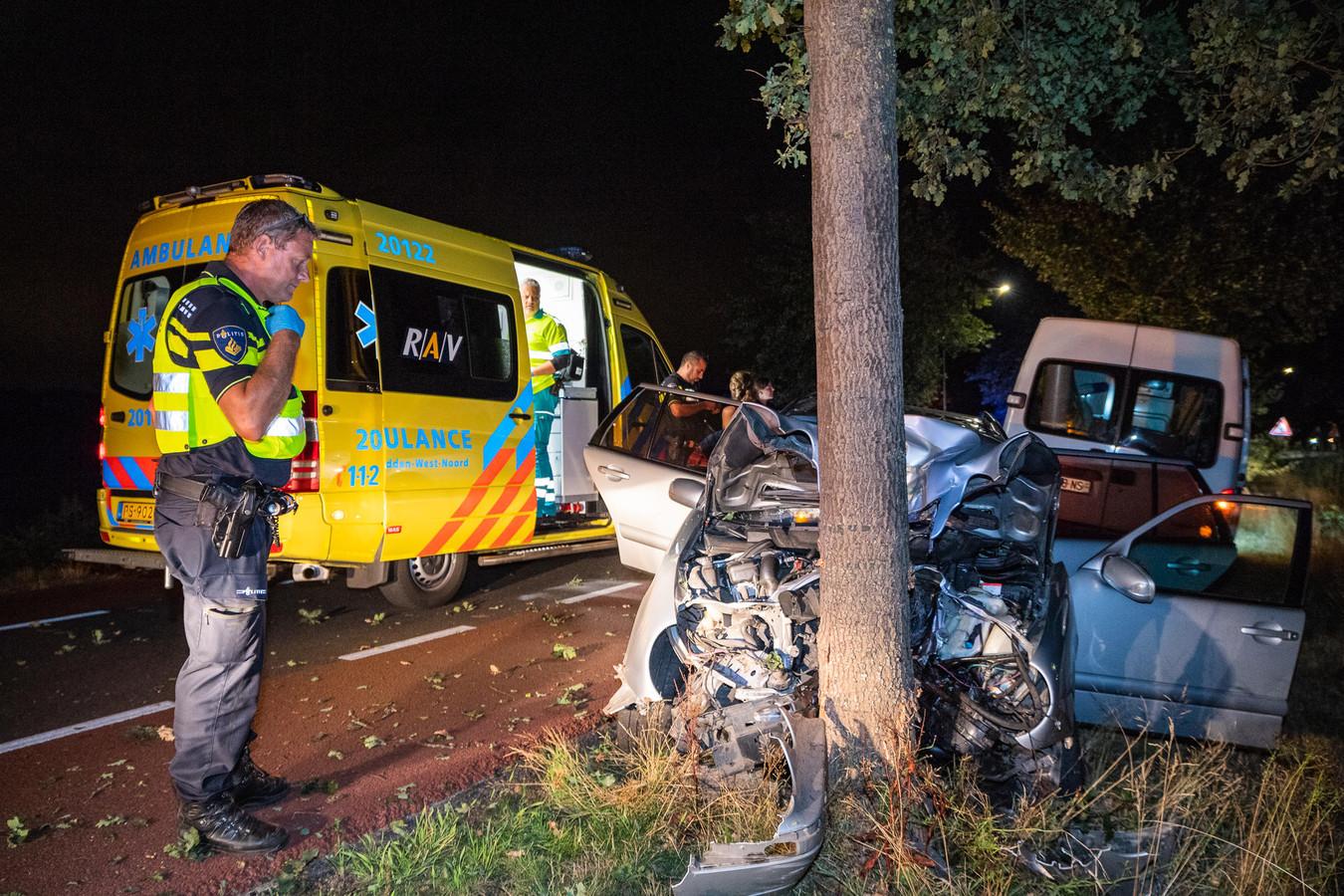 Een ongeval in het buitengebied bij Molenschot.