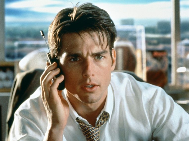 Tom Cruise in Jerry Maguire. Beeld TriStar
