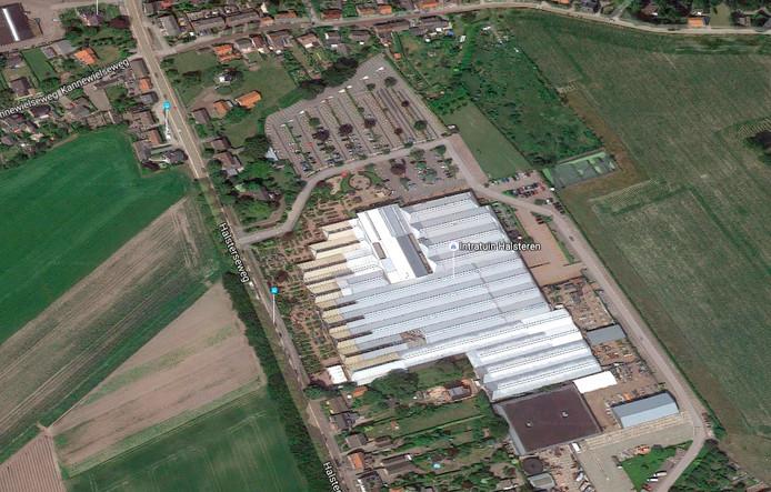 Overzicht van situatie bij ingang Intratuin Halsteren. Streetmaps Google