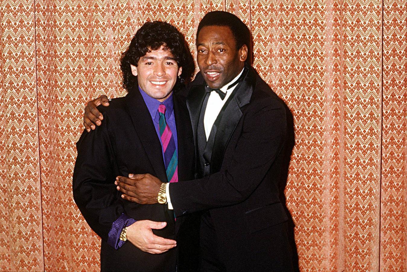 Pelé en Diego Maradona.