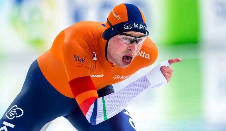 Sven Kramer is nog altijd de enige grootverdiener onder de schaatsers. Beeld anp