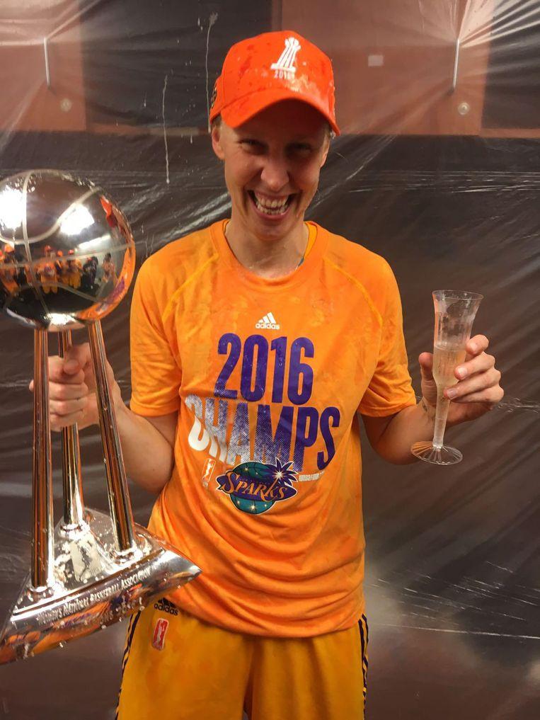 Ann Wauters Amerikaans kampioen met LA Sparks: \