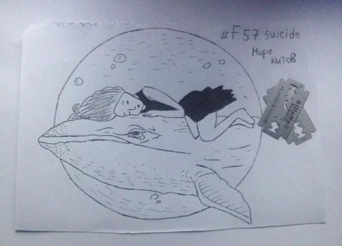 Slachteroffer van een zogenaamde Blue Whale Challenge.