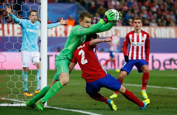 PSV verloor in maart 2016 in de achtste finale pas na strafschoppen van de latere finalist Atlético Madrid.