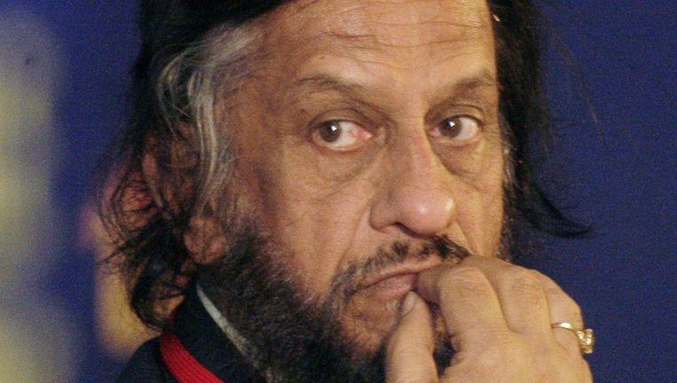 Rajendra K. Pachauri, voorzitter van het VN-klimaatpanel IPCC, wordt beschuldigd van ongewenste intimiteiten Beeld ap