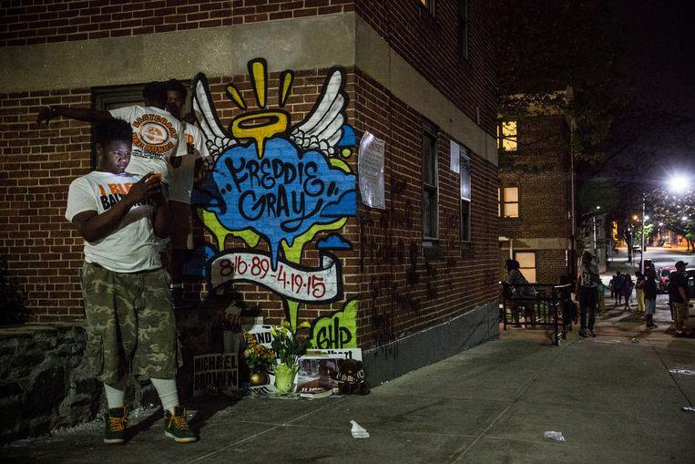 De wijk Sandtown in Baltimore. Beeld getty