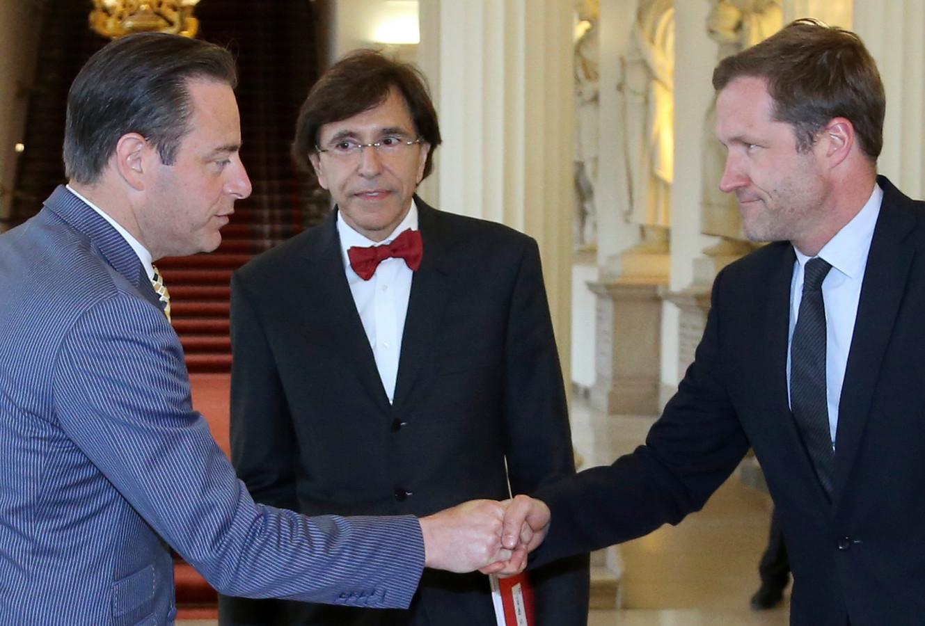 Bart De Wever, Elio Di Rupo et Paul Magnette en 2014.