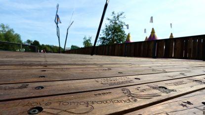Storm beschadigt Tomorrowlandbrug