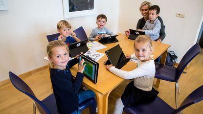 Kleuters leren digitaal werken