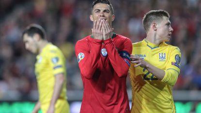 EK-KWALIFICATIE. Ronaldo breekt tanden stuk op Oekraïne - Pogba toont met magnifieke assist de juiste weg - Sterling hakt met hattrick Tsjechen in de pan