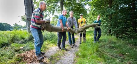 Vrijwilligers knappen Landgoed Eyckenstein op