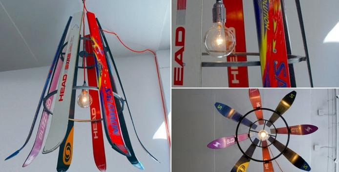 Van afgedankte ski's kan bijvoorbeeld weer een lampenkamp gemaakt worden