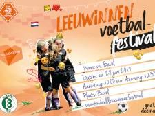 Leeuwinnen Voetbalfestival bij vv Bavel, voetbalfeestje voor jonge meiden