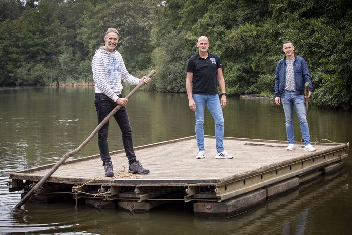 De drie organisatoren van Enjoy Live festival op het Hulsbeek met vanaf links William Segerink, Marcel Benneker en Michel Sciarone.
