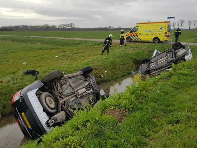 De situatie na het ongeval bij Winssen.
