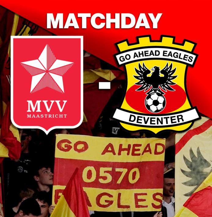 MVV-GA Eagles, zondagmiddag 14.30 uur, stadion De Geusselt in Maastricht.