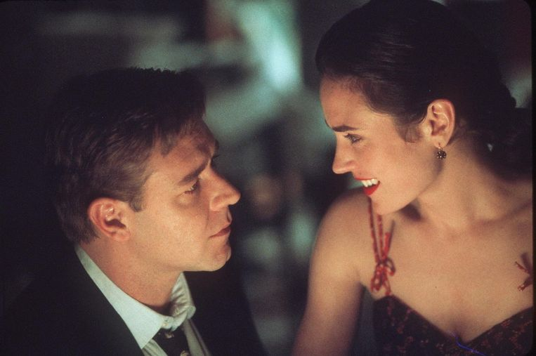 Russell Crowe en Jennifer Connelly in A Beautiful Mind (Ron Howard, 2001). Beeld