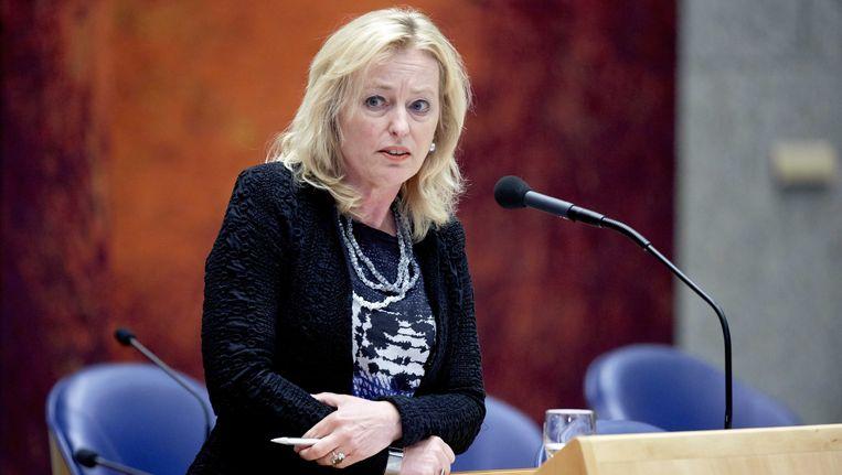 Minister Jet Bussemaker tijdens een vragenuurtje in de Tweede Kamer. Beeld ANP