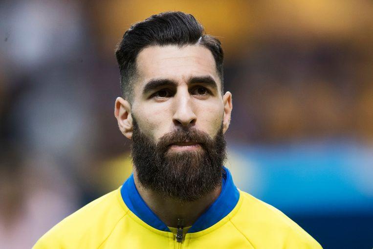 Jimmy Durmaz was voorganger van de wijdverbreide hipsterchic op de Russische WK-velden en verdient de prijs voor meest aanwezige baard. Beeld Getty Images