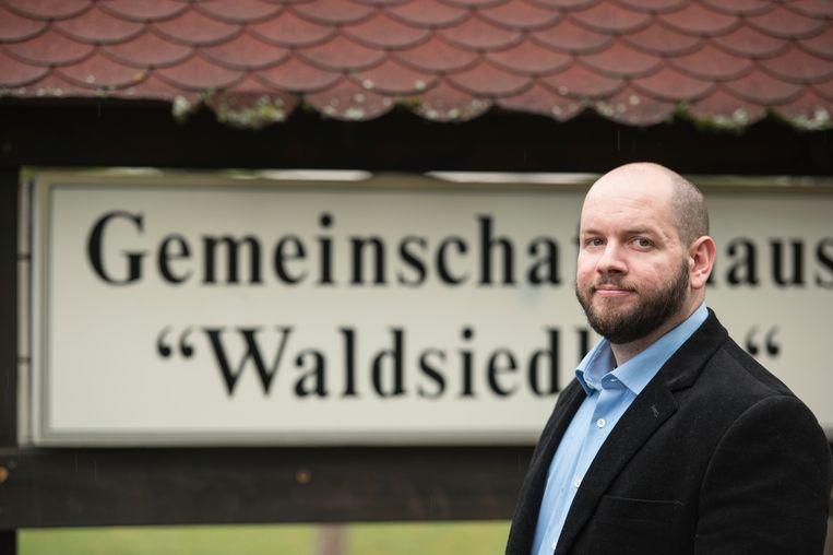 De NPD'er werd unaniem tot burgemeester van Waldsiedlung gekozen. Beeld AP