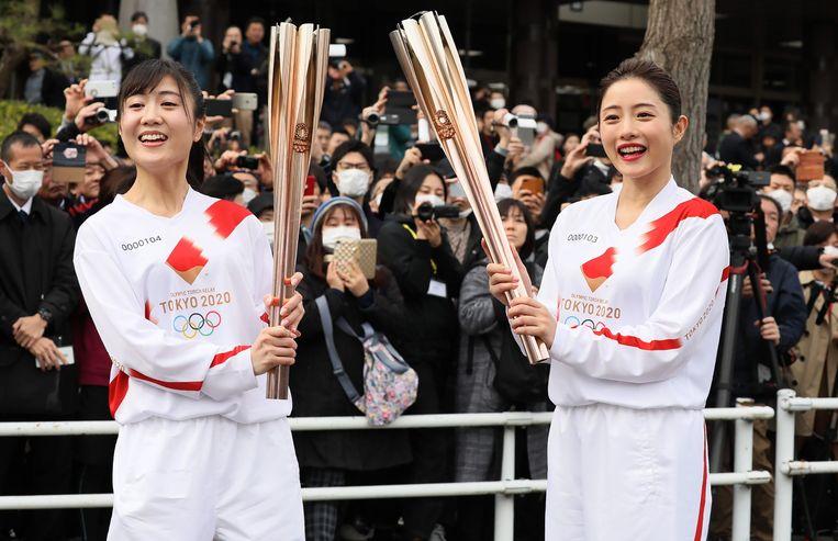In Japan gaan scholen dicht, worden voor twee weken alle sportieve en culturele evenementen afgelast en ligt de voetbalcompetitie in de J-League stil. Beeld AFP