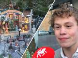 Het ultieme kerstdorp van Thomas in de etalage