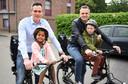 Lorin Parys met echtgenoot Bart en de kinderen.