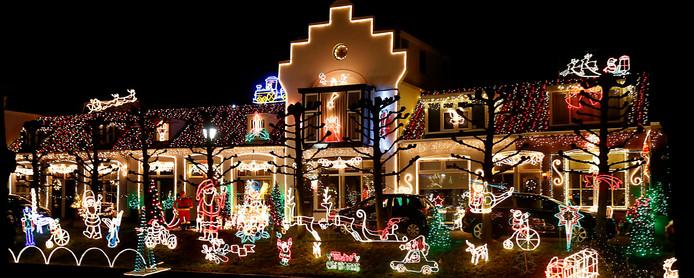 Kerstverlichting op de Meent in Leerdam.