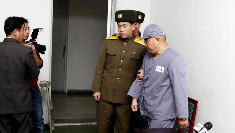 Kenneth Bae tijdens zijn tijd in de Noord-Koreaanse strafkampen (archiefbeeld)
