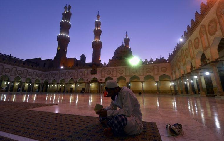 De Al-Azhar-moskee in Kaïro. Beeld epa