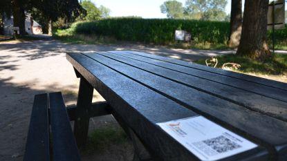 Luister naar podcastverhalen op Lokerse picknickbankjes