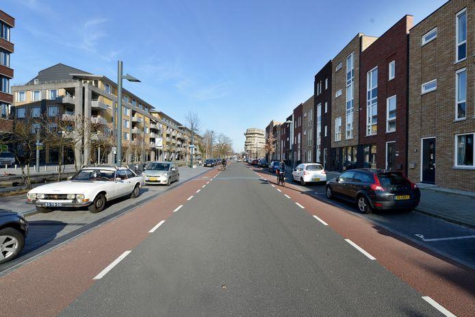 Ongeveer de plek van het ongeluk aan de Roomweg in Enschede.