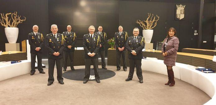 Vlnr Peter Uitdehaag, Ed van de Klundert, Rene Lazeroms, Paul Timmermans, Ruud van Iterson, Wim Dircken en Bento Evers.