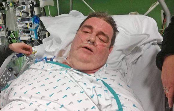Mario Paelinck in 2017 in het ziekenhuis.